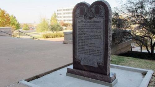 10 commandments monument outside Oklahoma state Capitol