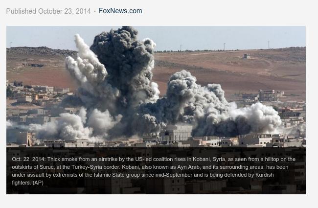 ISIS takes control of air-drop zone outside Kobani