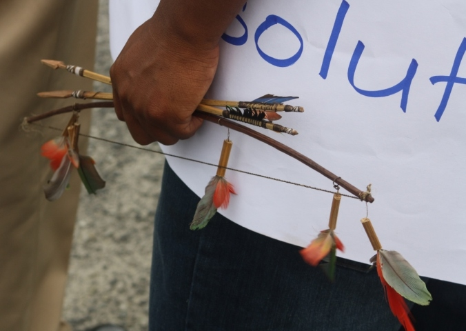 indigenous people protest land rigts in guyana (107)