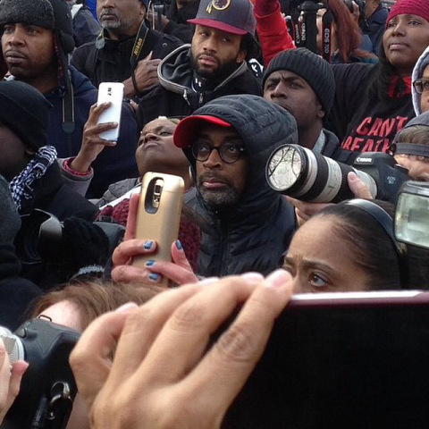 Spike-Lee-attends-Millions-March-in-New-York-City