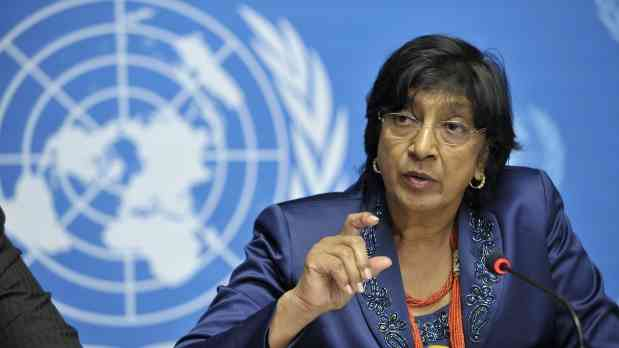 Navi Pillay is the UN Human Rights Czar.  The claims to have the right to jail you for expressing ideas she doesn't like.